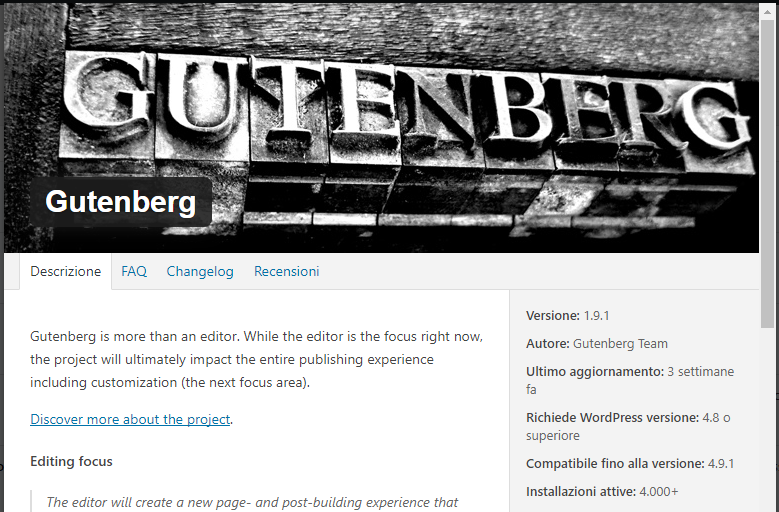 Usate WordPress? Siate pronti all'evento epocale: arriva Gutenberg